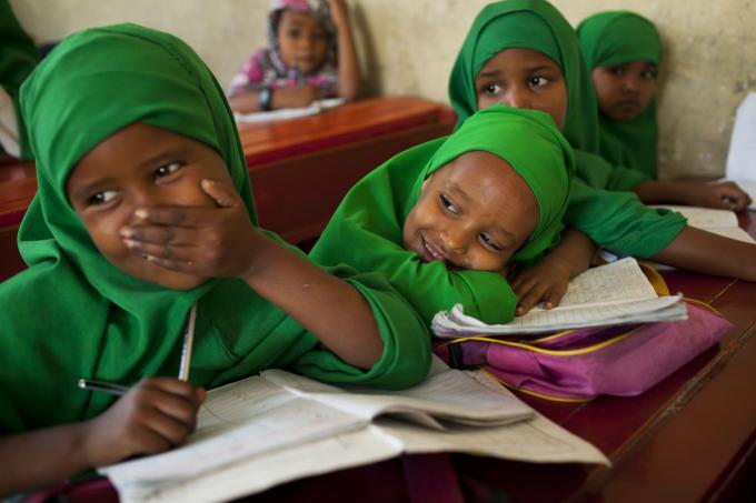 First grade students at Borama girls primary school, Somaliland, which is supported by Save the Children  Photo Anna Kari/Save the Children